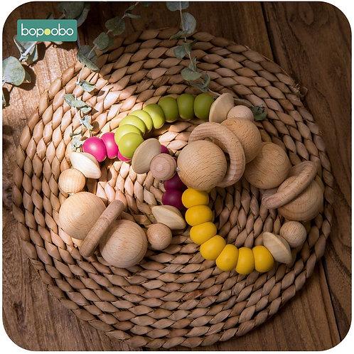 1pc Organic Silicone/Wood Teether