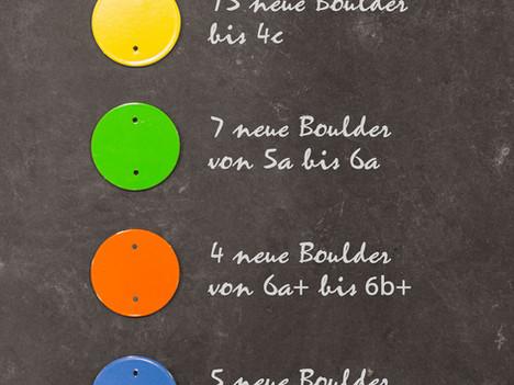 Neue Boulderprobleme und mehr