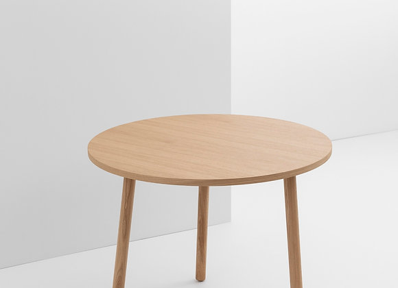 Table ronde en bois 90cm. Paddle