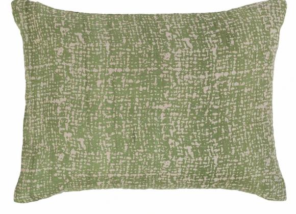 Coussin en soie  vert