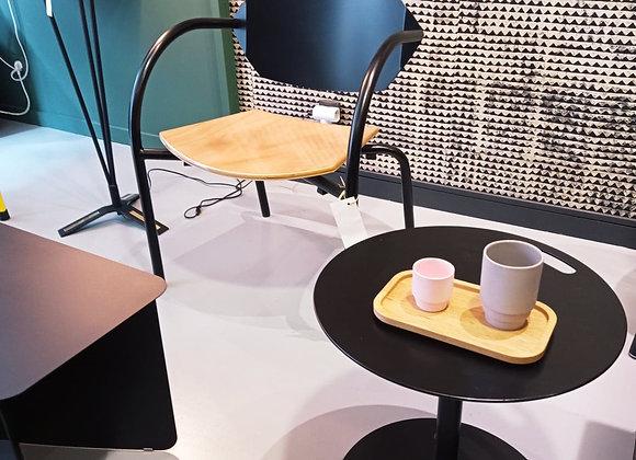 Table  basse ronde en acier noire