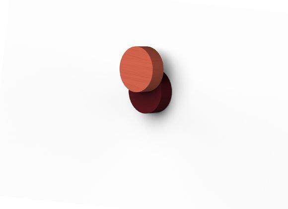 Patère Lou ronde en bois colorée