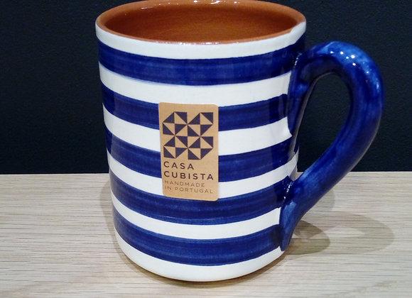 Mug en terre cuite  rayures horizontales