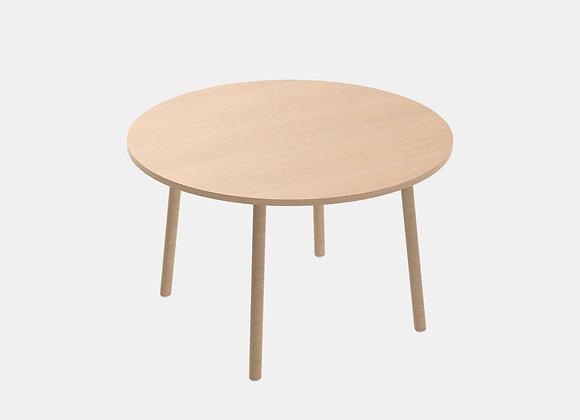 Table ronde en bois 120 cm. Paddle