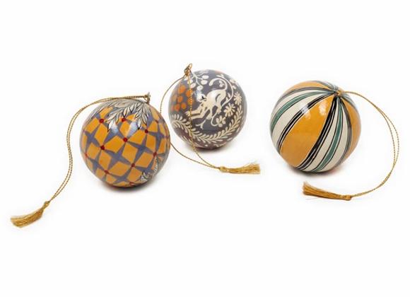 Set de 3 boules décoratives. JUNGLE