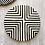 Thumbnail: Plateau graphique noir et blanc.Modèle  offset cross