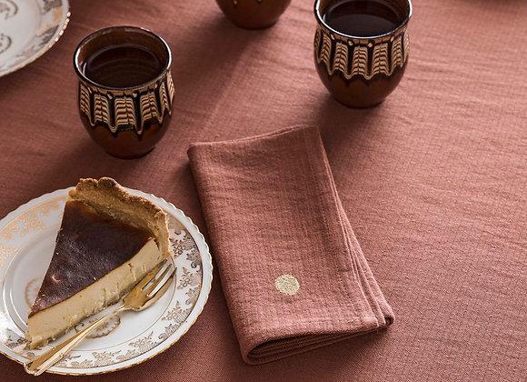 Set x2 serviettes de table Lin et Coton. Rose