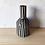 Thumbnail: Vase Garafe rayé noir et blanc en terre cuite