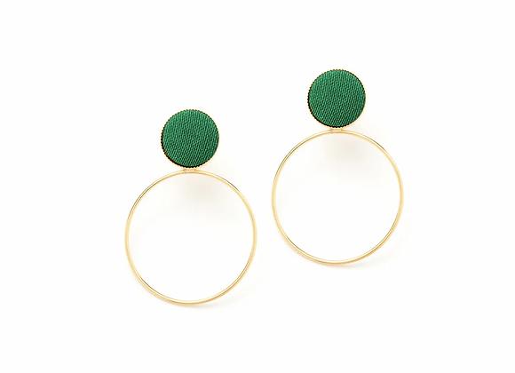Boucles d'oreilles  CELESTE Modèle M vert prairie