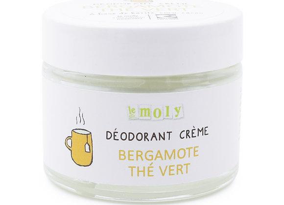 Déodorant bio crème Bergamotte Thé vert