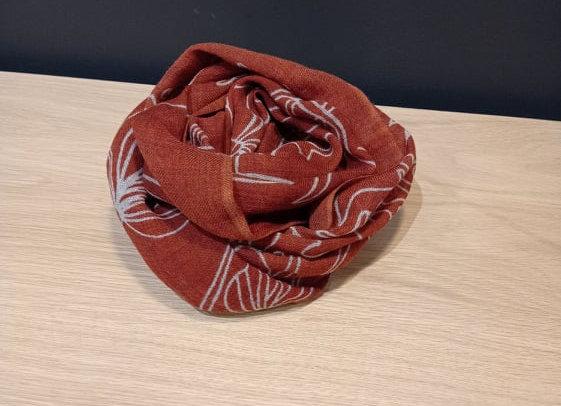 Echarpe en laine Jungle Brique