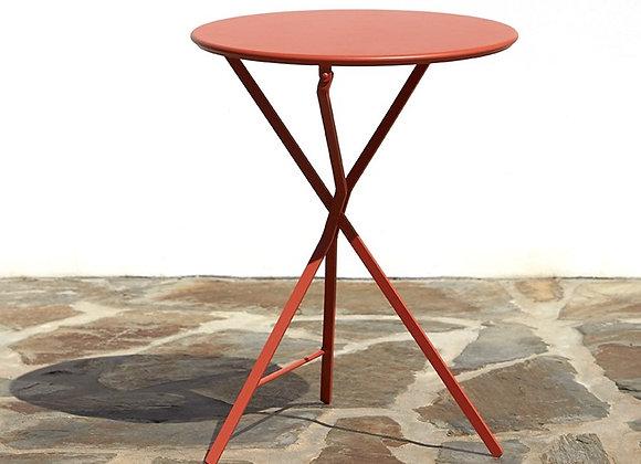 Table pliante ronde en métal