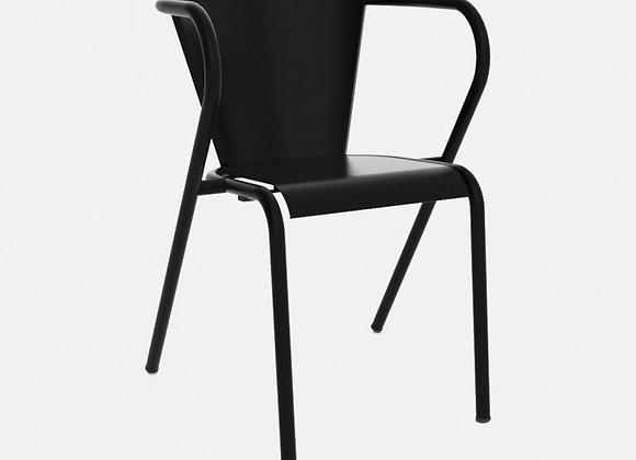 Chaise en acier mat . Modèle 5008