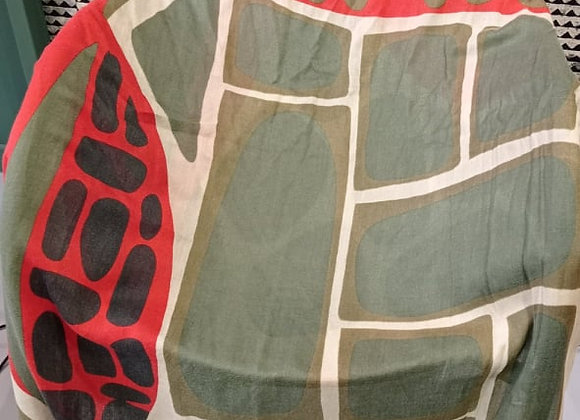 Echarpe en laine Cinetique Kaki XL