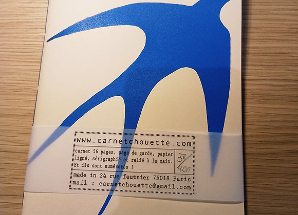 Carnet Hirondelle. Format M