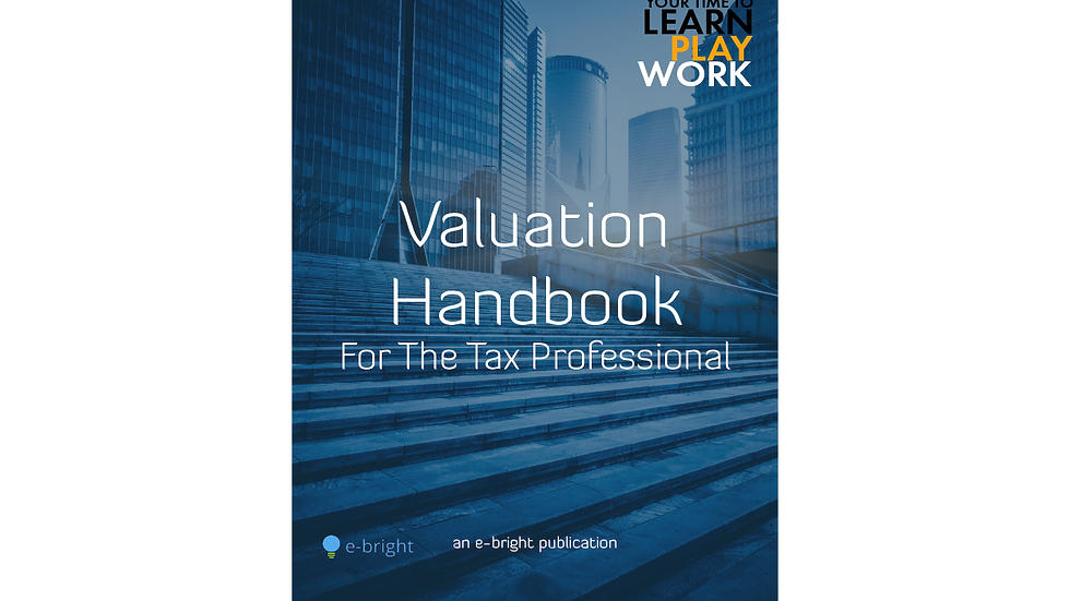 Valuation handbook for the tax professionals
