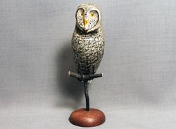 Owl (Great Gray) Mini on Perch