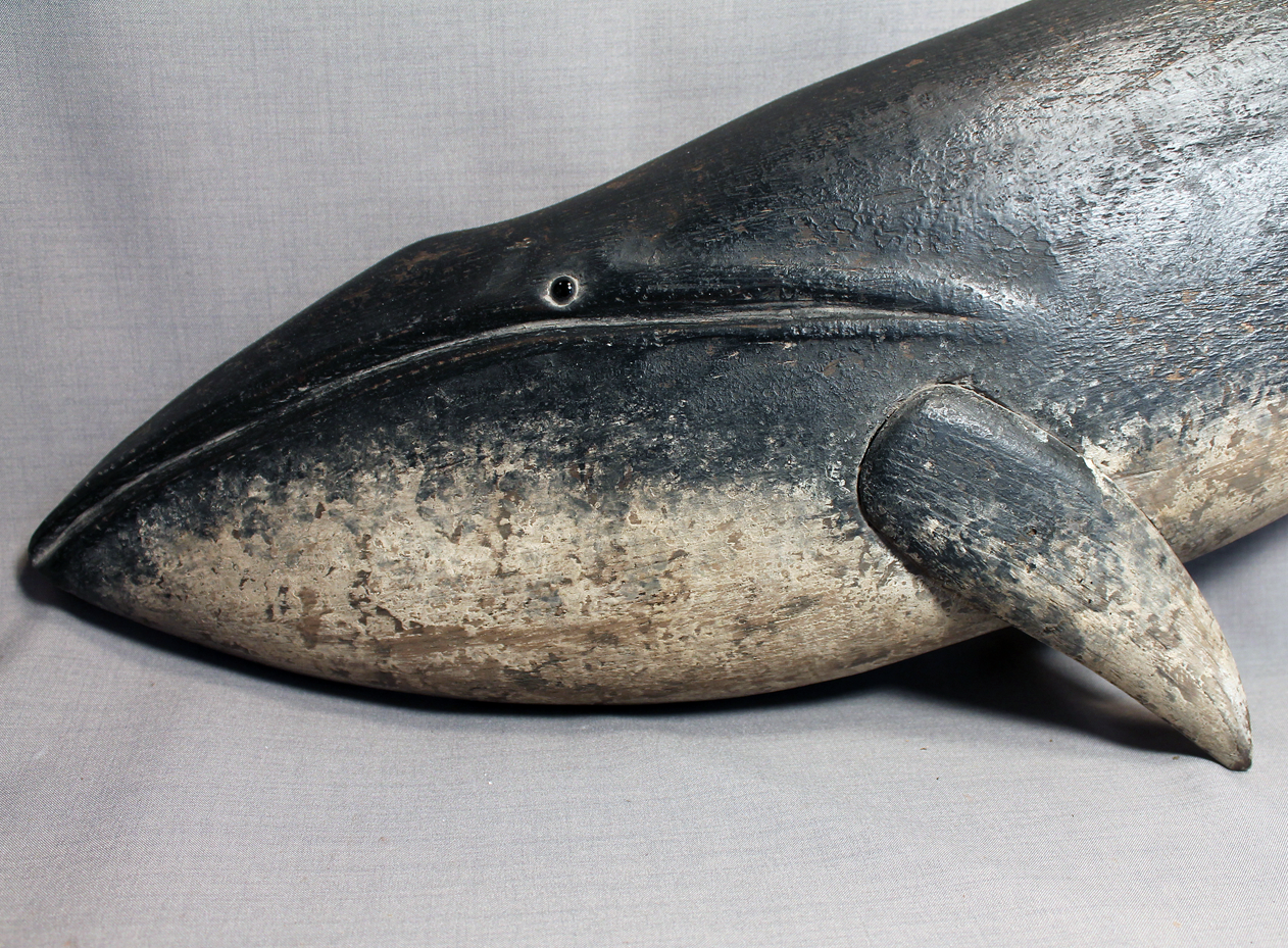 Whale Folk Art Minke Wallmount