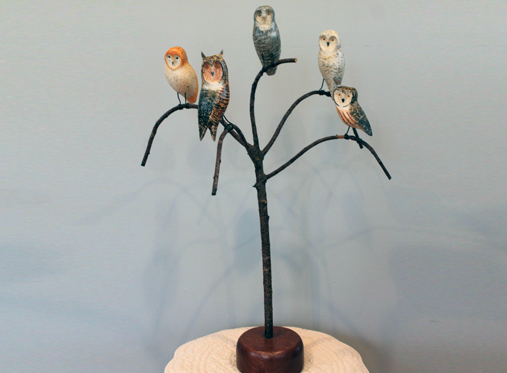 Mini Owl Bird Tree