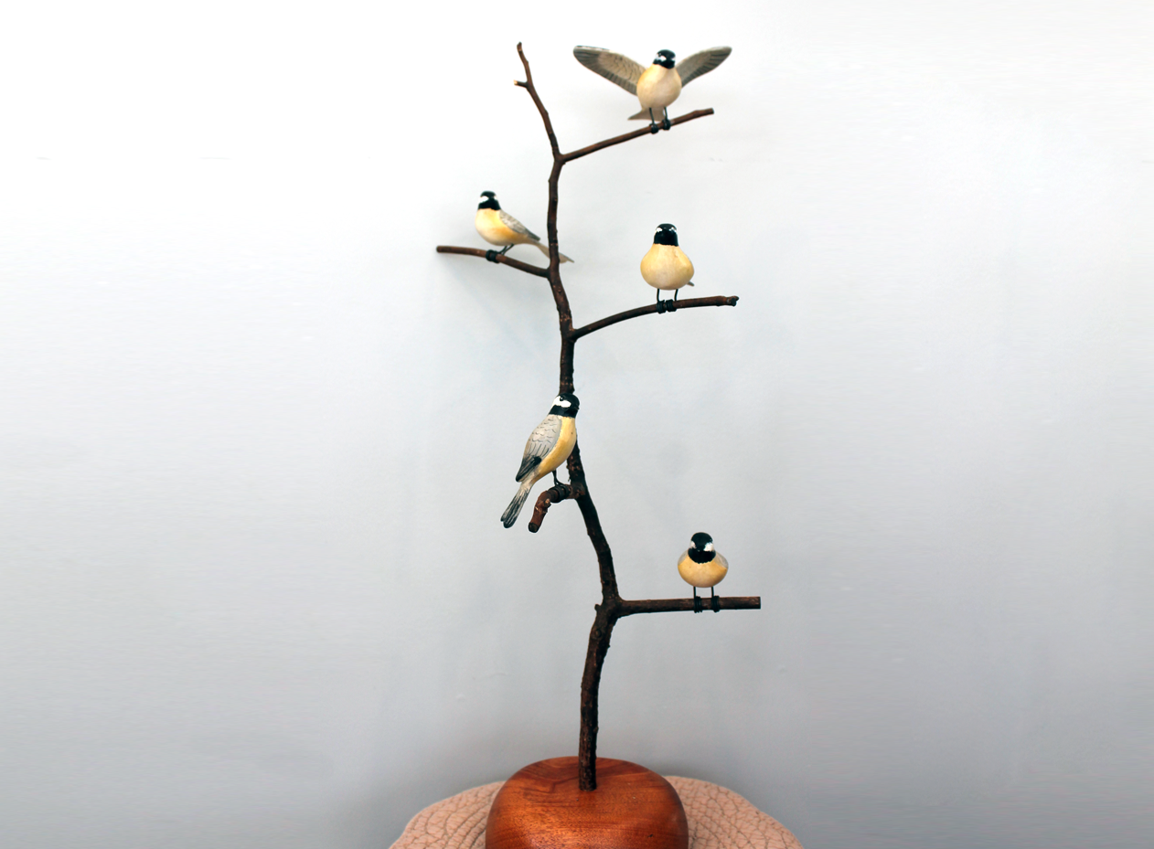 Chickadee Bird Tree