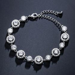 2021 Luxury Round 925 Sterling Silver Bracelets