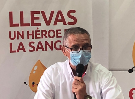 Salvar vidas lo llevas en la sangre, lanzamiento Campaña Esperanza de vida.