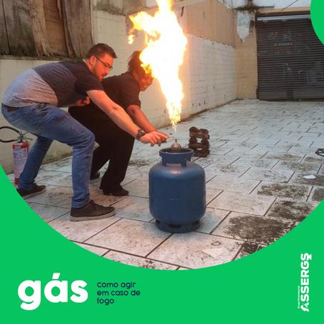 Você sabe como agir em caso de vazamento de gás, com fogo?