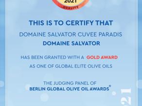 ドイツ ベルリン国際オリーブオイルコンクール2021 金賞🥇
