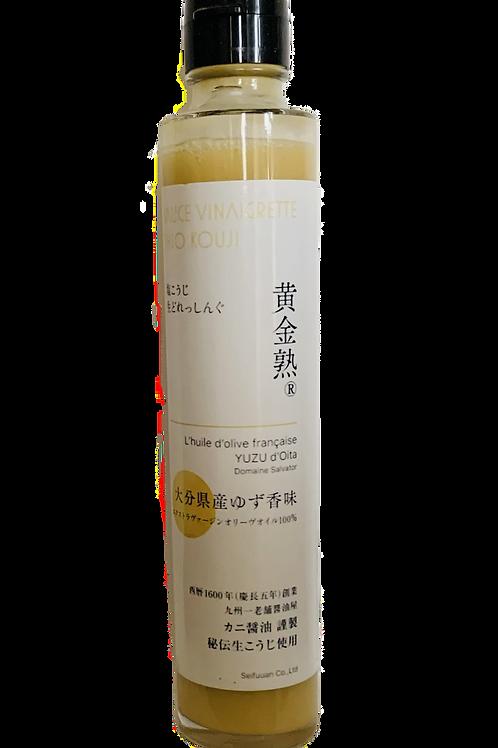 [ドレッシング]黄金熟大分県産ゆず香味エクストラヴァージンオリーブオイル100%で仕上げた塩こうじドレッシング