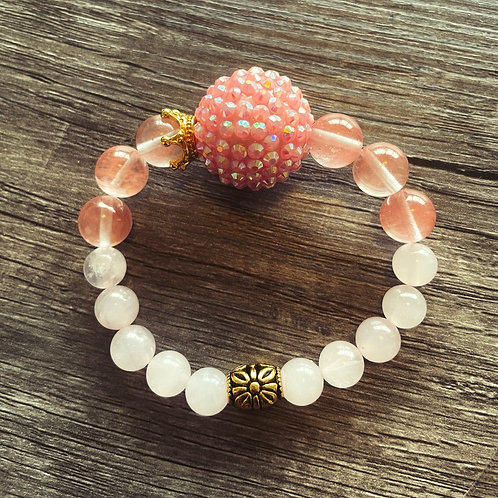 Pink lemonade bracelet
