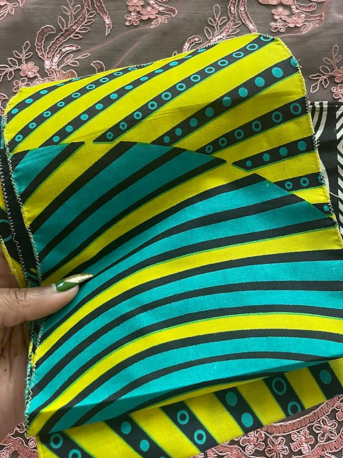 Bright Green and Turquoise Headwrap