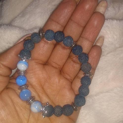 Blue Laced Bracelet