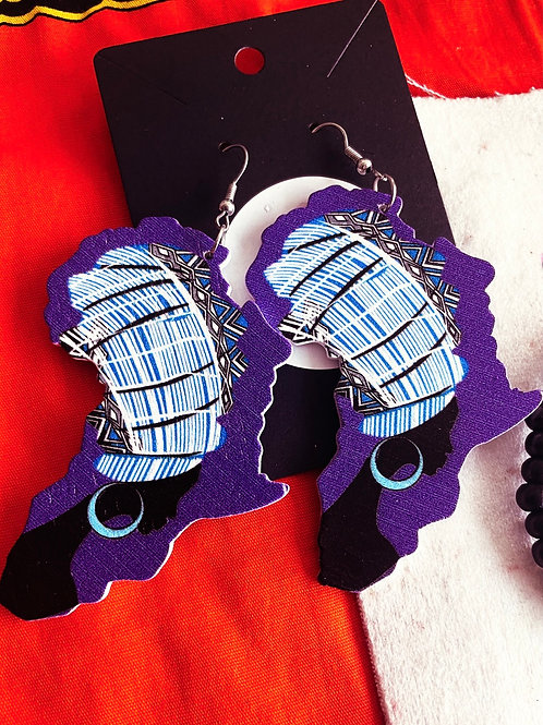 African Woman Earrings