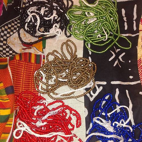 Nonremovable waistbeads from Ghana