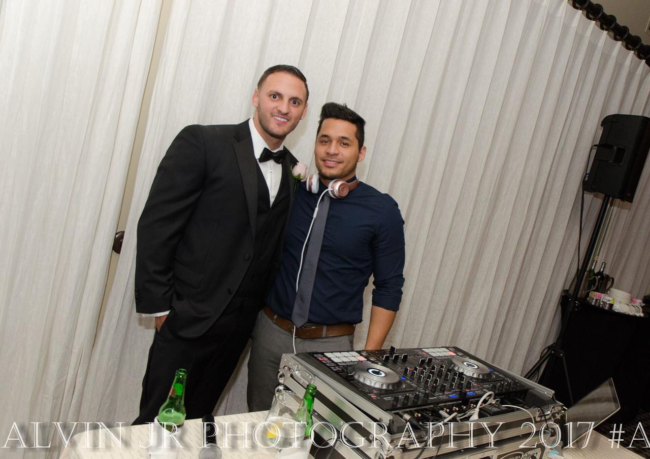 Groom and DJ