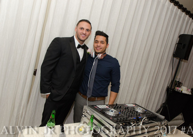 Groom and DJ