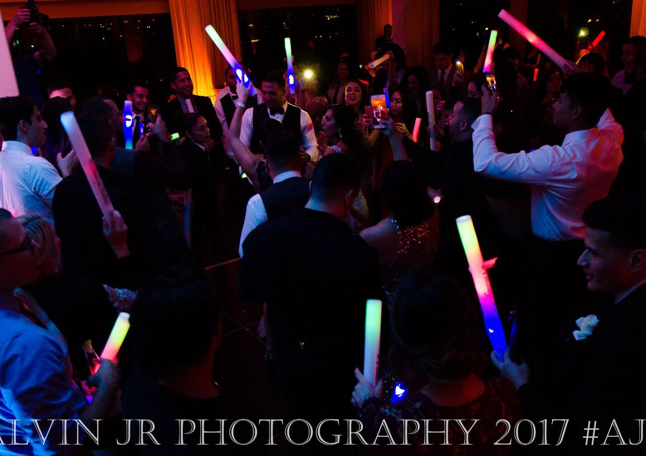 Glow sticks and dance