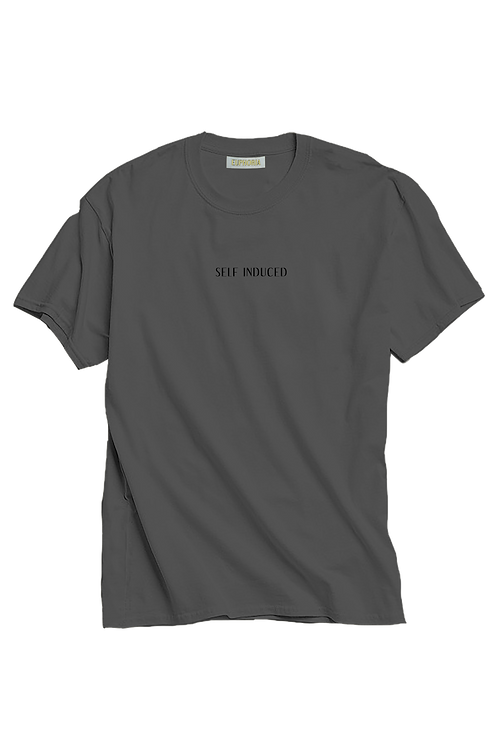 Grey and Black Self Induced Tee