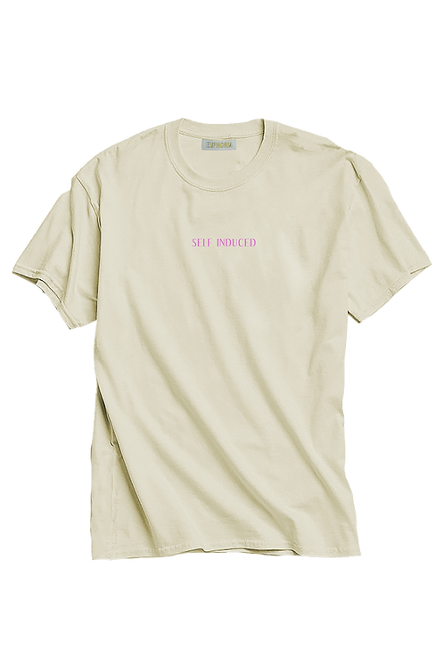 Cream and Lilac Self Induced Tee