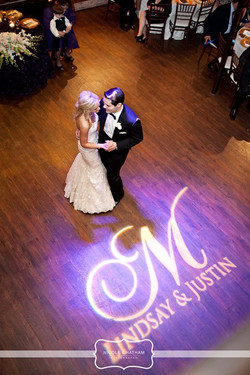 Monogram during the first dance