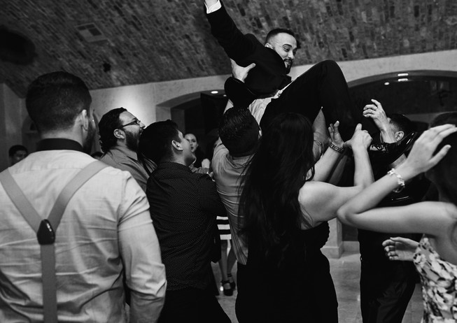 Groom having fun!