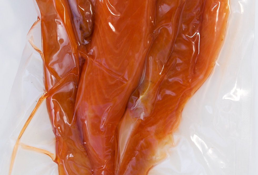 Salmon Belly cold smoked SLICED 8 oz