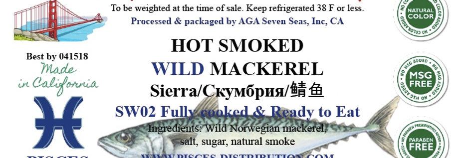 Mackerel WILD hot smoked