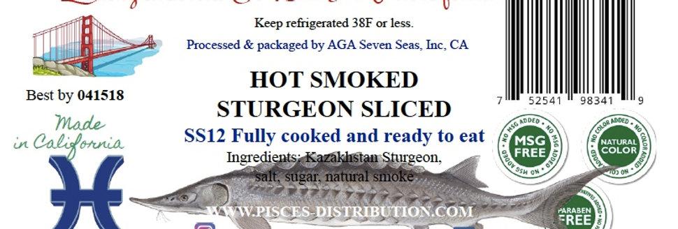 Sturgeon hot smoked SLICED 8 oz