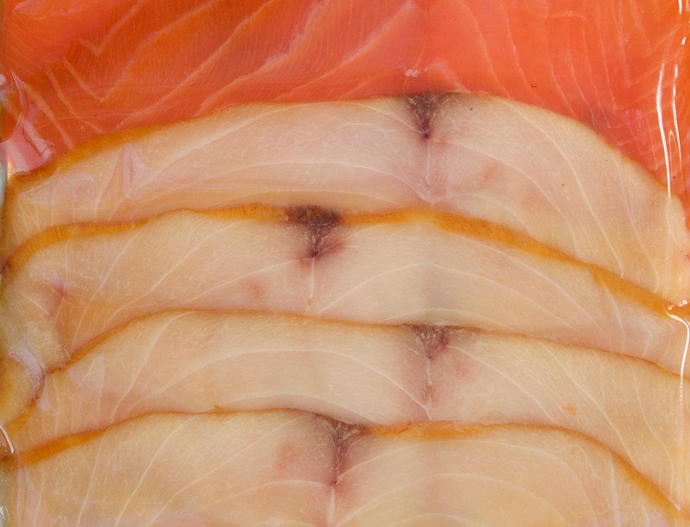 TRIO (Salmon, Sturgeon & Escolar WILD) cold smoked SLICED 8 oz