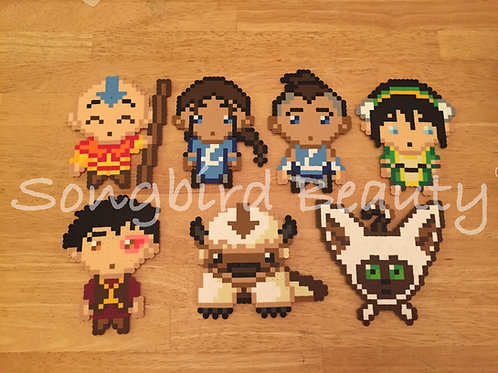 Avatar: The Last Airbender-Aang, Katara, Sokka, Toph, Zuko, Aapa, Momo, Azula