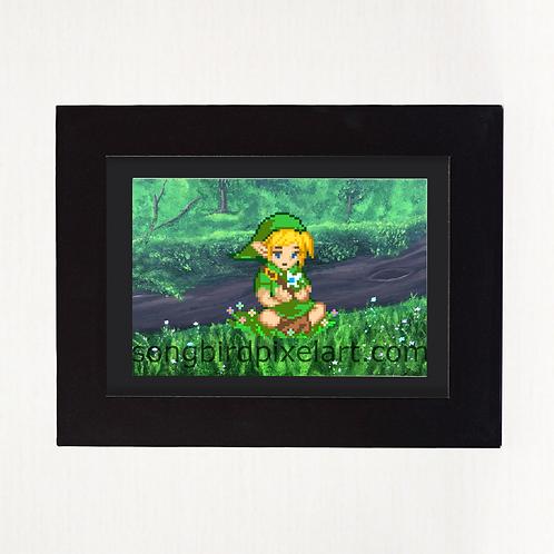 Link and Navi 4x6 Print