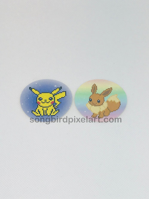 Pokemon Stickers-Pikachu & Eevee