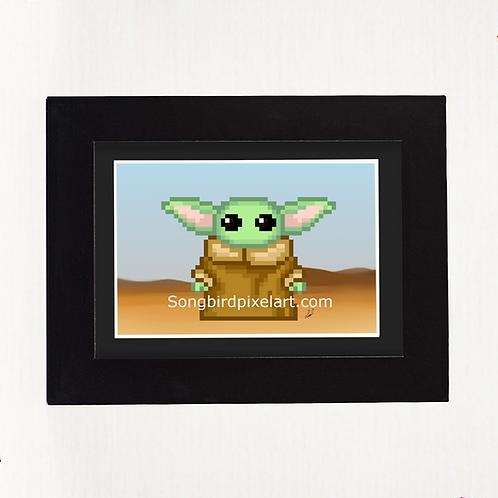 4x6 Baby Yoda Print