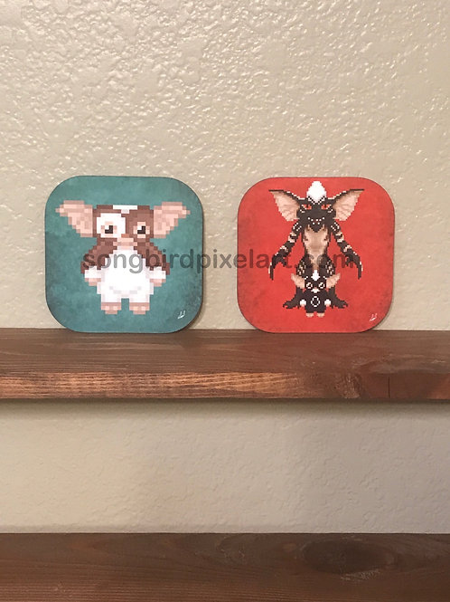 Gremlins: Gizmo and Stripe Coasters
